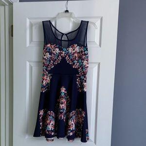 Delia's Floral Skater Dress
